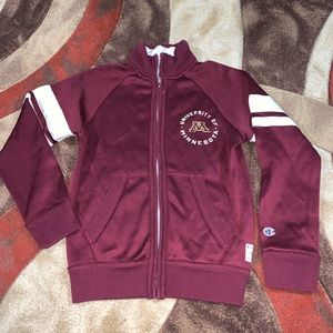 Champion Minnesota Gophers zip up jacket